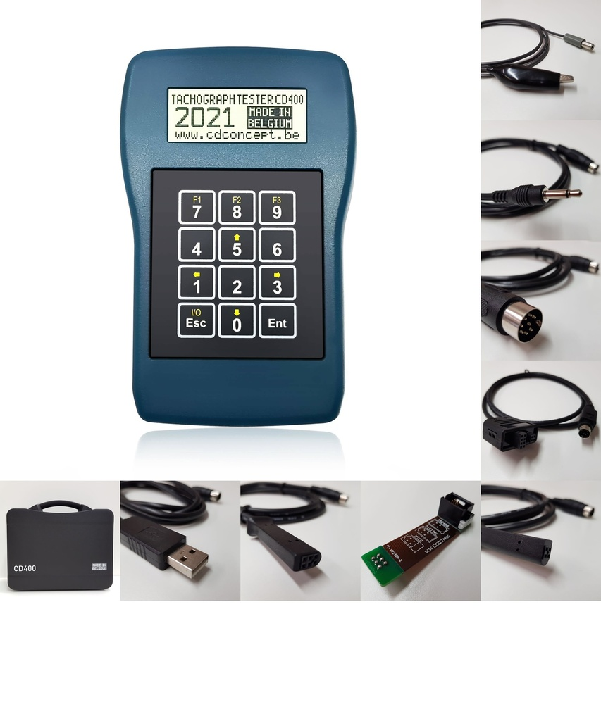 [KIT-CD400-TR] Tachograph programmer CD400-AETR (2021) for analog and digital tachographs (Turkey other AETR countries)